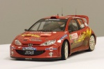 Peugeot 206 WRC im Maßstab 1:24
